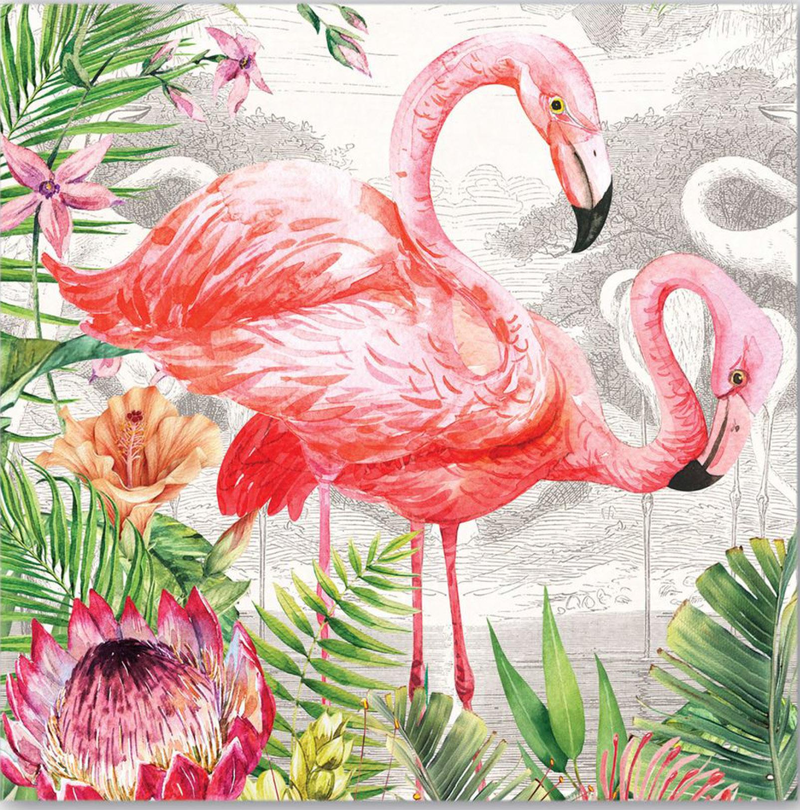 постеры розовые фламинго интернет магазине каляев