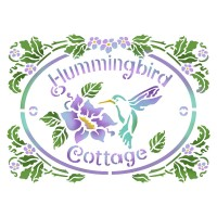 "трафарет Stamperia  ""HUMMINGBIRD COTTAG"""